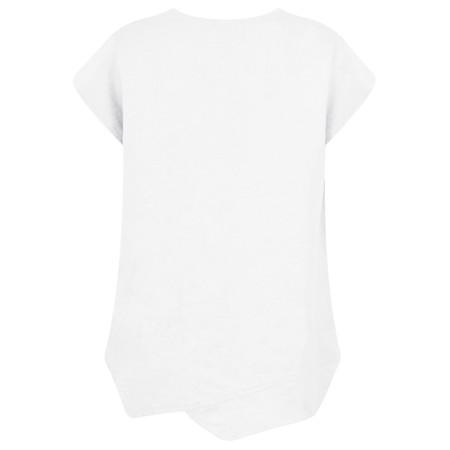 Thing Linen Asymmetric Hem Top - White