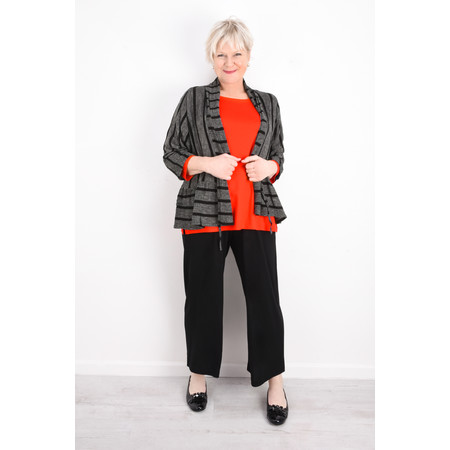 Masai Clothing Janella Stripe Jacket - Black