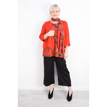 Masai Clothing Along Tropical Floral Scarf - Red