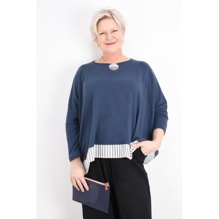 Caroline Gardner Slogan Zip Pouch - Blue