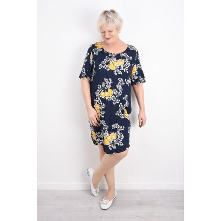 ICHI Clossa Floral Print Dress - Blue