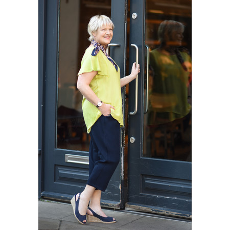 Gemini Label  Allie Animal Print Square Scarf - Blue