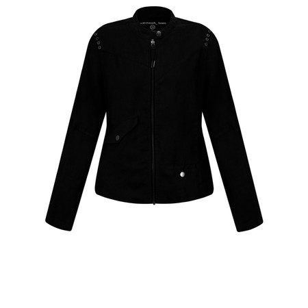 Sandwich Clothing Linen Biker Jacket - Black