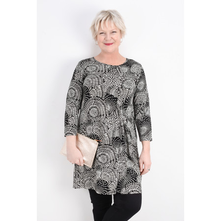 Masai Clothing Gerry Abstract Floral Tunic - Black