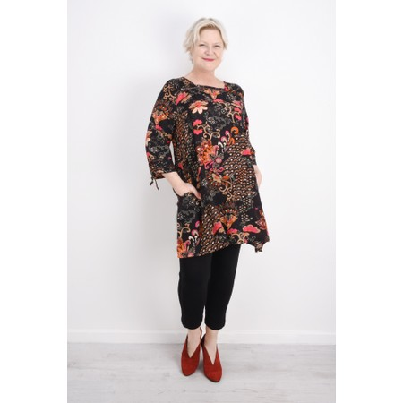 Masai Clothing Gelsana Oriental Tunic - Orange