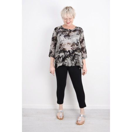 Masai Clothing Paulina Capri Jersey Trouser  - Black
