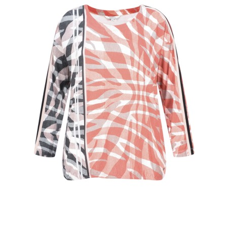 Sandwich Clothing Abstract Zebra Jersey Top - Red