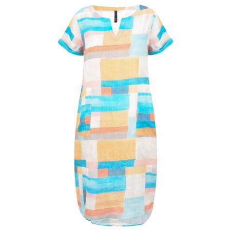 Foil Colour Block Dress - Multicoloured