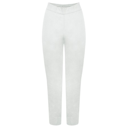 Foil Trapeze 7/8 Pull On Trouser  - Off-White