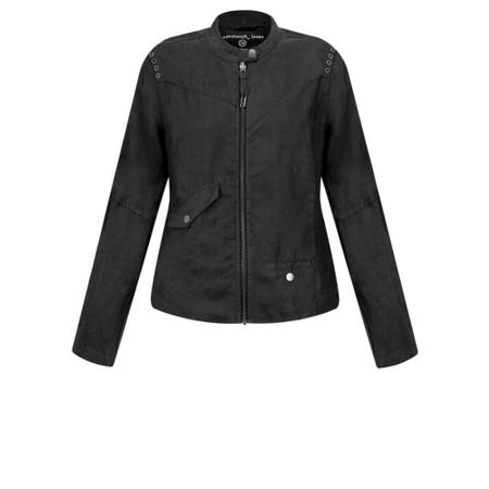 Sandwich Clothing Linen Biker Jacket - Black