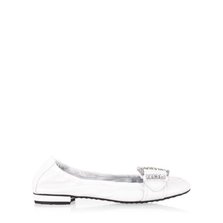 Kennel Und Schmenger Elisabeth Malu Crystal Buckle Shoe - White