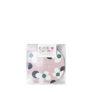 Caroline Gardner Polka Dot Floral Pocket Compact Mirror