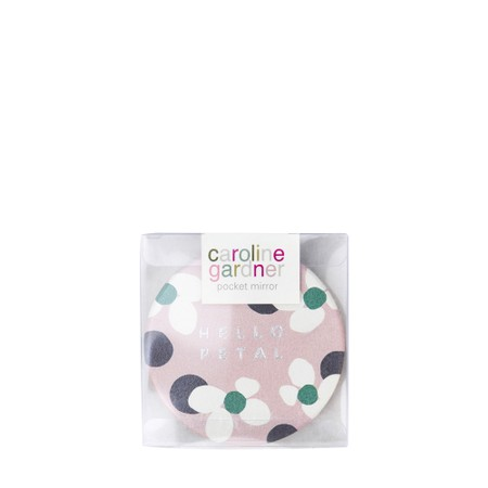 Caroline Gardner Polka Dot Floral Pocket Compact Mirror - Multicoloured