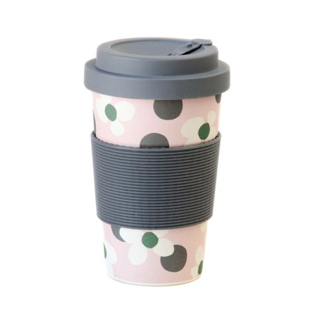 Caroline Gardner Floral Spot Bamboo Reusable Coffee Cup - Multicoloured
