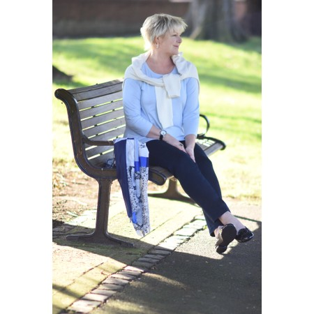 Robell Trousers Bella Slim Fit Full Length Jean - Blue