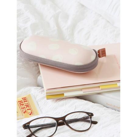 Caroline Gardner Scribble Spot Glasses Case - Pink