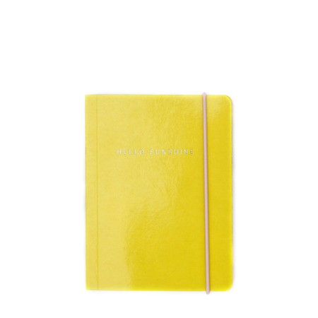 Caroline Gardner Yellow Patent Small Notebook - Yellow