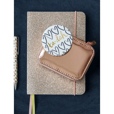 Caroline Gardner Gold Glitter A5 Notebook - Gold