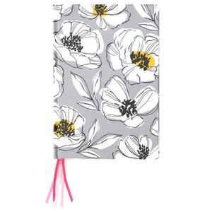 Caroline Gardner Grey Floral Multi Ribbon Journal Notebook