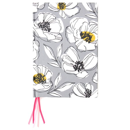 Caroline Gardner Grey Floral Multi Ribbon Journal Notebook - Blue