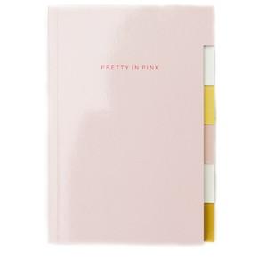 Caroline Gardner Pink Patent Multi Tab Notebook