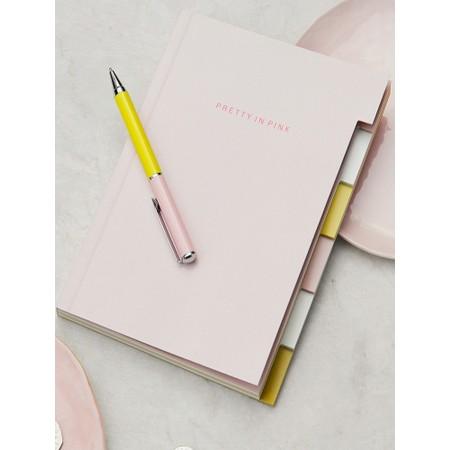 Caroline Gardner Pink Patent Multi Tab Notebook - Pink