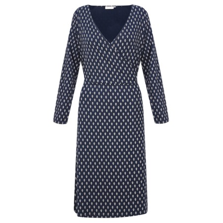 Masai Clothing Neba Diamond Wrap Dress - Blue