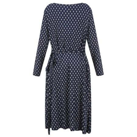 Masai Clothing Neba Diamond Wrap Dress - Blue