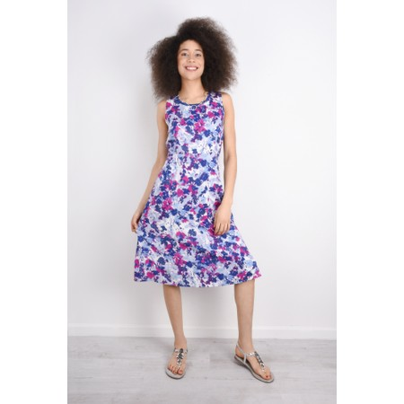 Adini Divine Print Harriet Dress - Purple