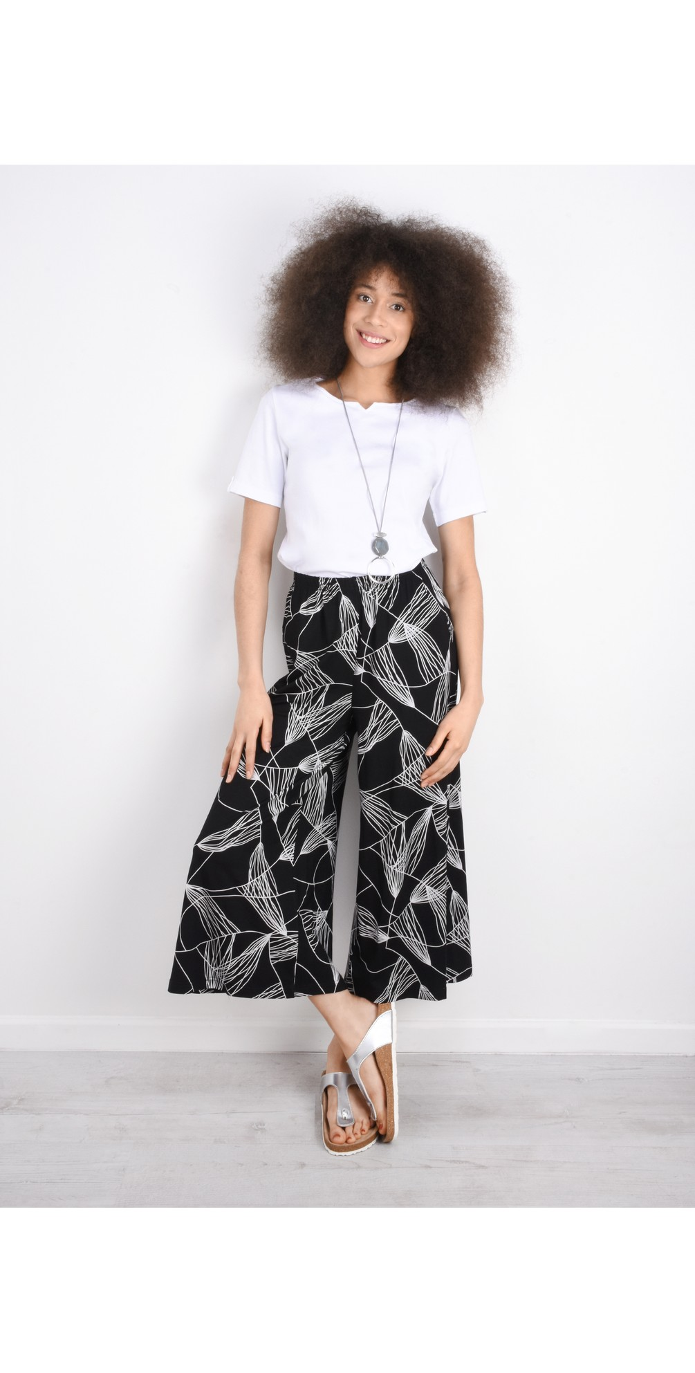 Abstract Line Jersey Trouser main image