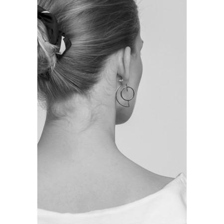 Tutti&Co Crescent Earrings  - Gold