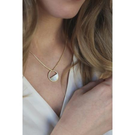 Tutti&Co Eclipse Necklace  - Gold