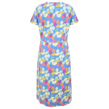 Adini Scandi Leaves Print Scandi Leaves Dress - Blue