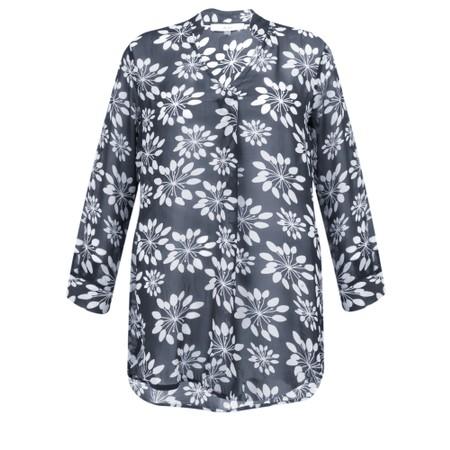 Adini Grass Lily Print Carolee Tunic - Blue