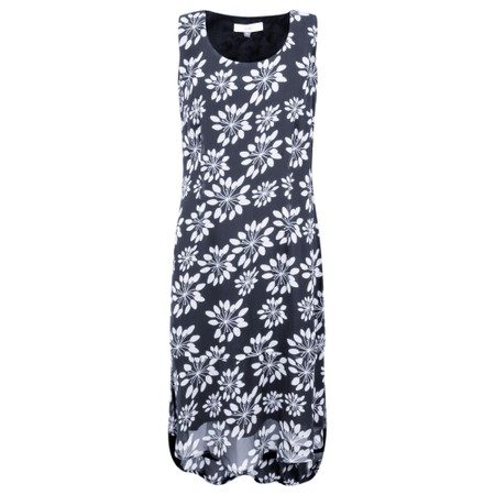 Adini Grass Lily Print Catalina Dress - Blue