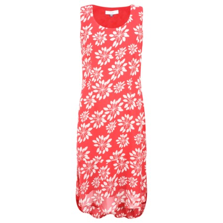 Adini Grass Lily Print Catalina Dress - Red