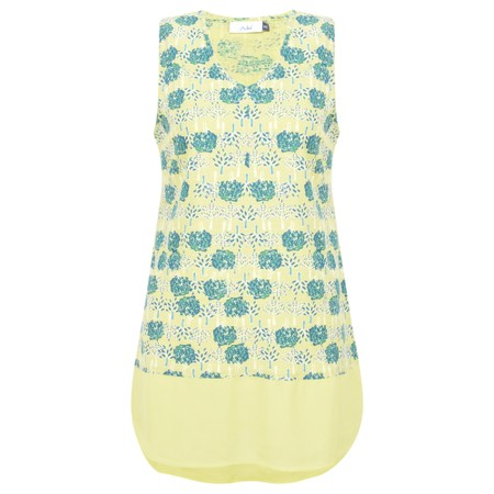 Adini Double Tree Print Neve Top - Yellow