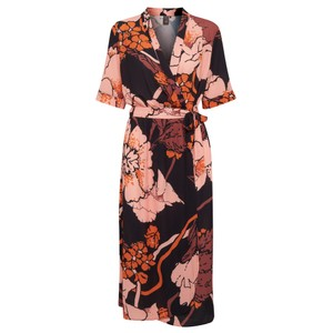 ICHI Chelseo Print Wrap Dress