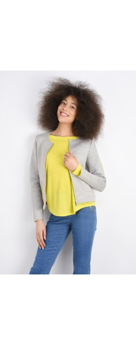 Sandwich Clothing Linen Mix Long Sleeve Top Warm Yellow