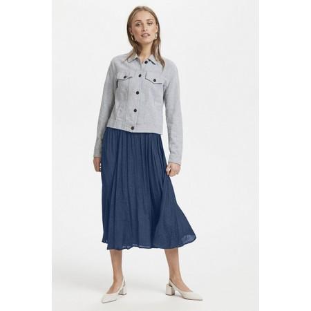 ICHI Chilla Skirt - Blue