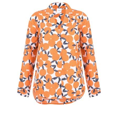 ICHI Valborg Oranges Shirt - Black