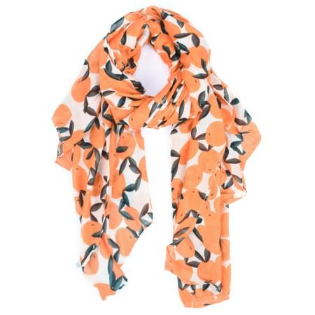 ICHI Vera Oranges Scarf - Orange