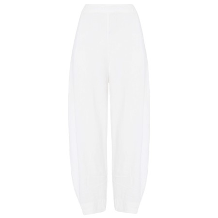 Sahara Textured Linen Cropped Trouser - White