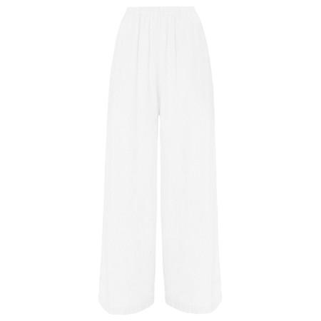 Sahara Textured Linen Culottes - White