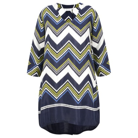 Masai Clothing Galeni Chevron Tunic - Green