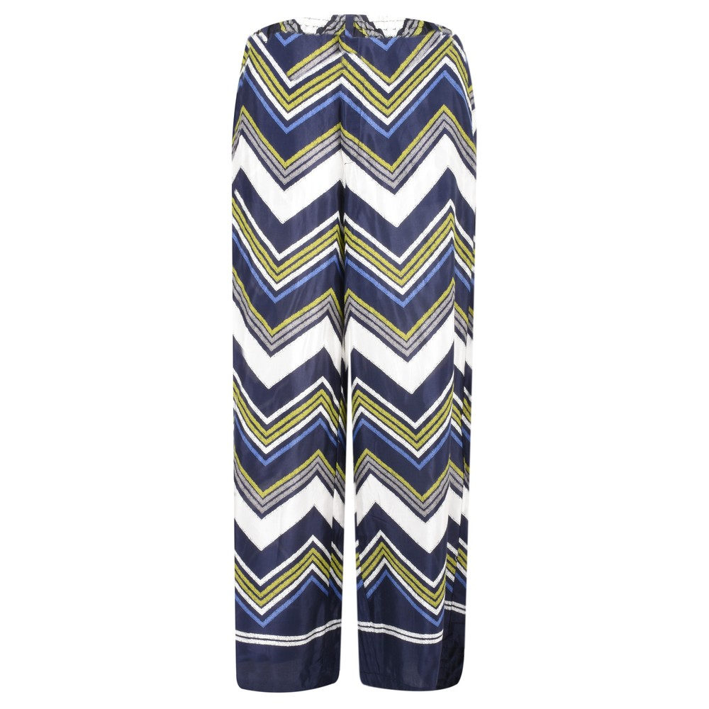 Masai Clothing Perinus Large Zigzag Print Trouser Lime Org