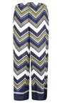 Masai Clothing Lime Org Perinus Large Zigzag Print Trouser