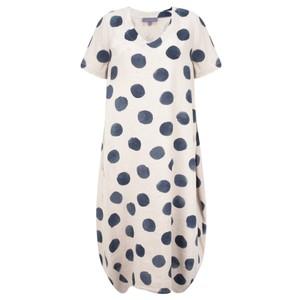 Sahara Painters Spot Linen Bubble Dress