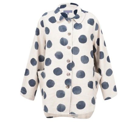 Sahara Painters Spot Linen Shirt - Blue