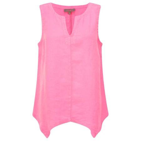 Sahara Organza Linen Asymmetric Vest - Pink